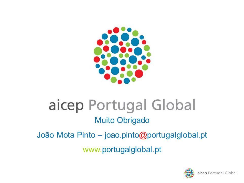 Muito Obrigado João Mota Pinto – joao.pinto@portugalglobal.pt www.portugalglobal.pt