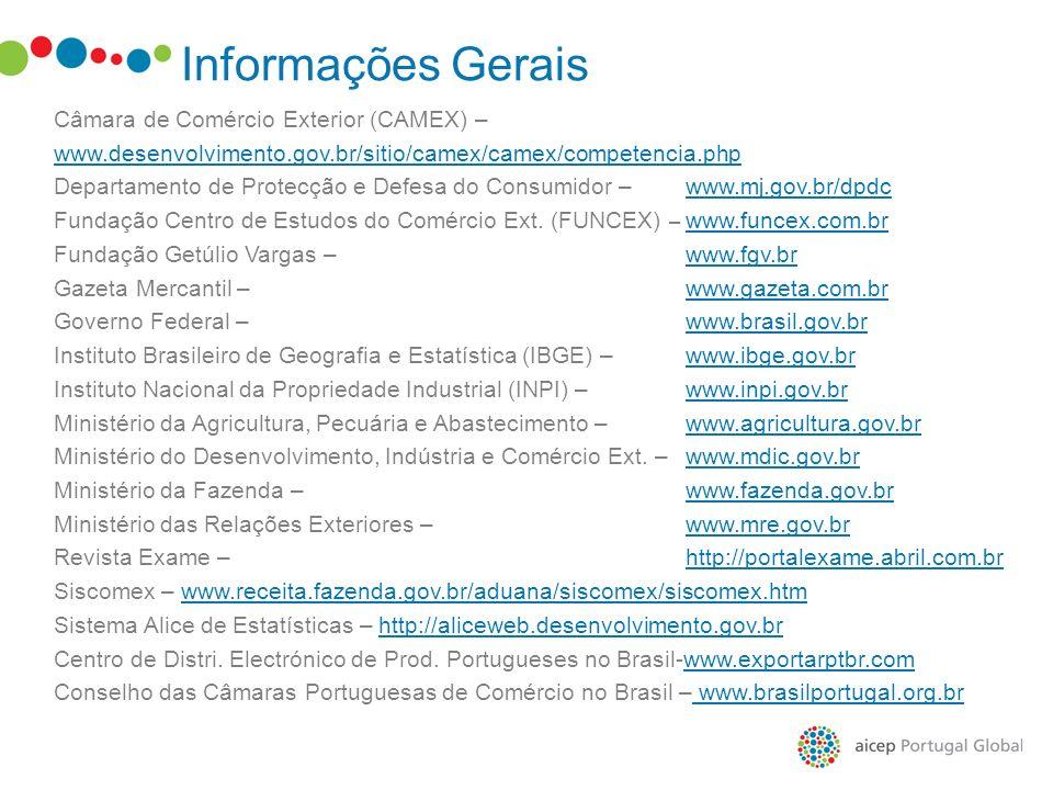 Câmara de Comércio Exterior (CAMEX) – www.desenvolvimento.gov.br/sitio/camex/camex/competencia.php Departamento de Protecção e Defesa do Consumidor –