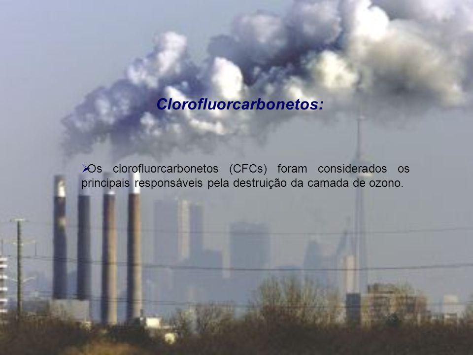 Problemas ambientais globais: Aquecimento global: A maior concentração de certos gases, como o CO2, aumenta o efeito de estufa, elevando as temperaturas médias do globo.