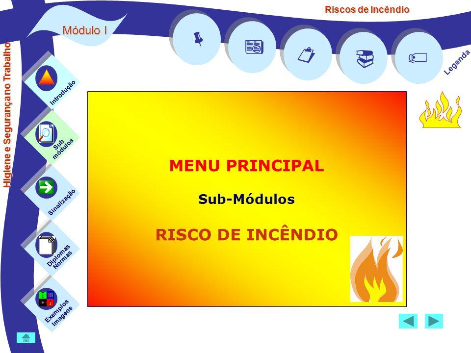Riscos de Incêndio Medidas de protecção contra incêndios CLASSES DE FOGO Classe A (fogos de sólidos ou fogos secos) – (ex.: madeira, tecidos e papel) Classe D (fogos de metais ou fogos especiais) - (ex.: alumínio, sódio, potássio e magnésio) Areia A, D Por vezes é o único meio de extinção disponível para incêndios do tipo D.