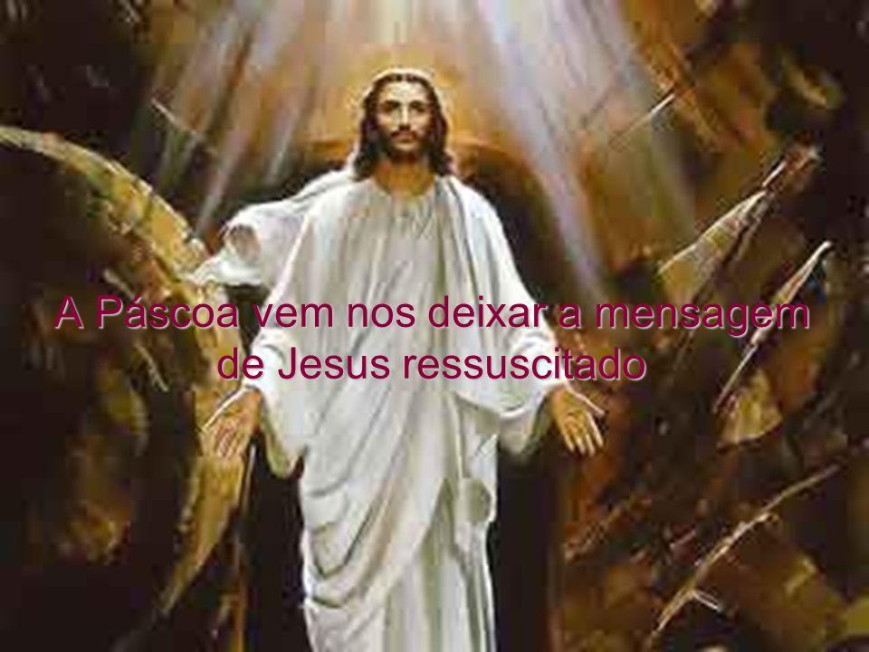 A Páscoa vem nos deixar a mensagem de Jesus ressuscitado