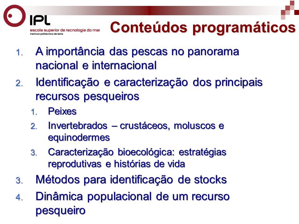 5.Efeitos das pescas nas populações e nas comunidades 1.