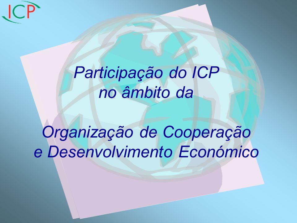 Participação do ICP no âmbito da Organização de Cooperação e Desenvolvimento Económico