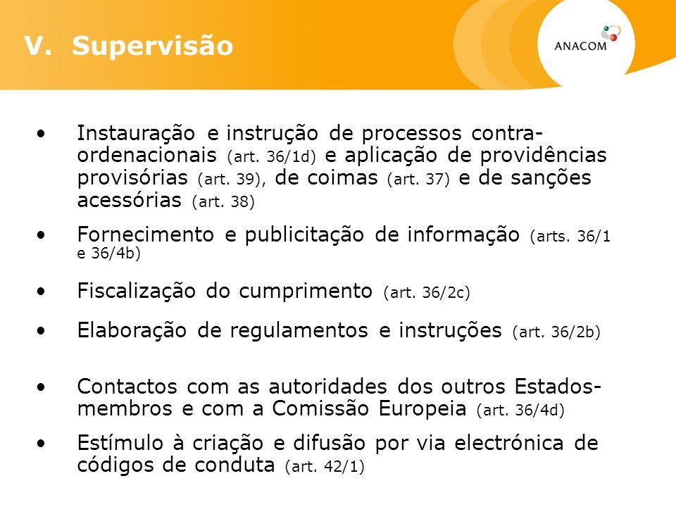 Instauração e instrução de processos contra- ordenacionais (art.