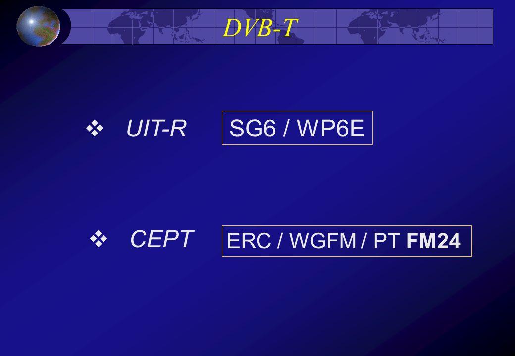 DVB-T UIT-R CEPT SG6 / WP6E ERC / WGFM / PT FM24