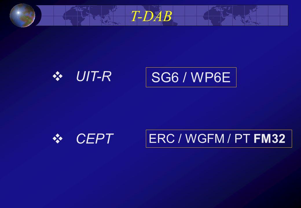 T-DAB UIT-R CEPT SG6 / WP6E ERC / WGFM / PT FM32
