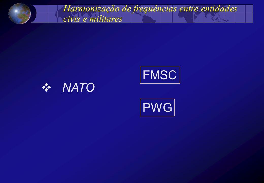 Harmonização de frequências entre entidades civis e militares NATO FMSC PWG