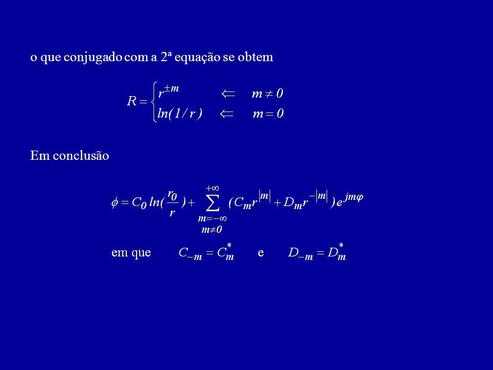 o que conjugado com a 2ª equação se obtem Em conclusão