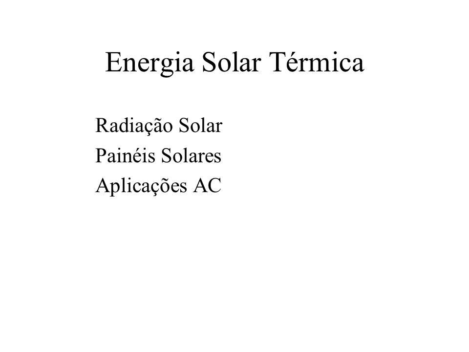 Intensidade de radiação no exterior da atmosfera varia devido à trajectória elíptica da terra em torno do sol Máx 21 Dez.