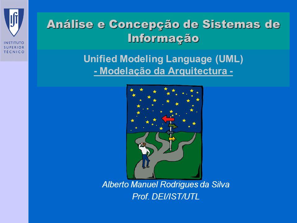 Unified Modeling Language (UML) - Modelação da Arquitectura - Alberto Manuel Rodrigues da Silva Prof. DEI/IST/UTL Análise e Concepção de Sistemas de I