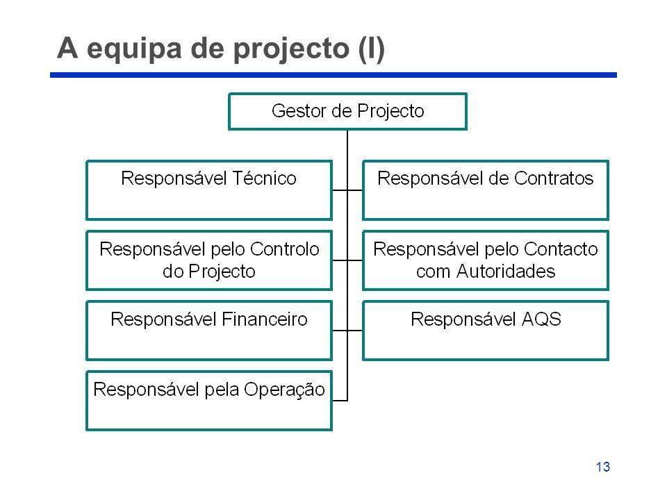 13 A equipa de projecto (I)