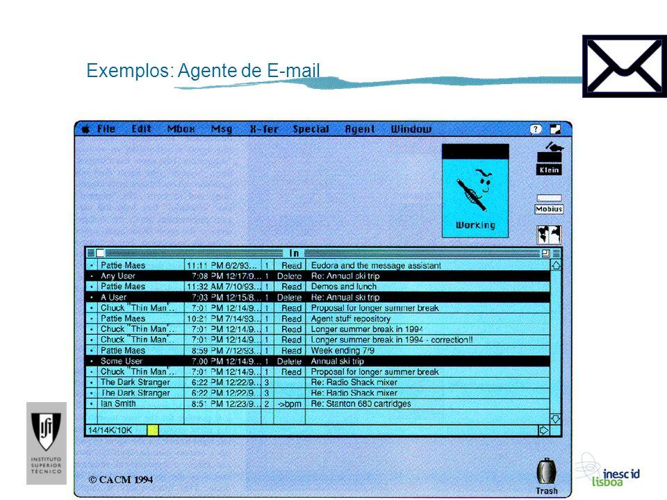 A. Paiva Exemplos: Agente de E-mail