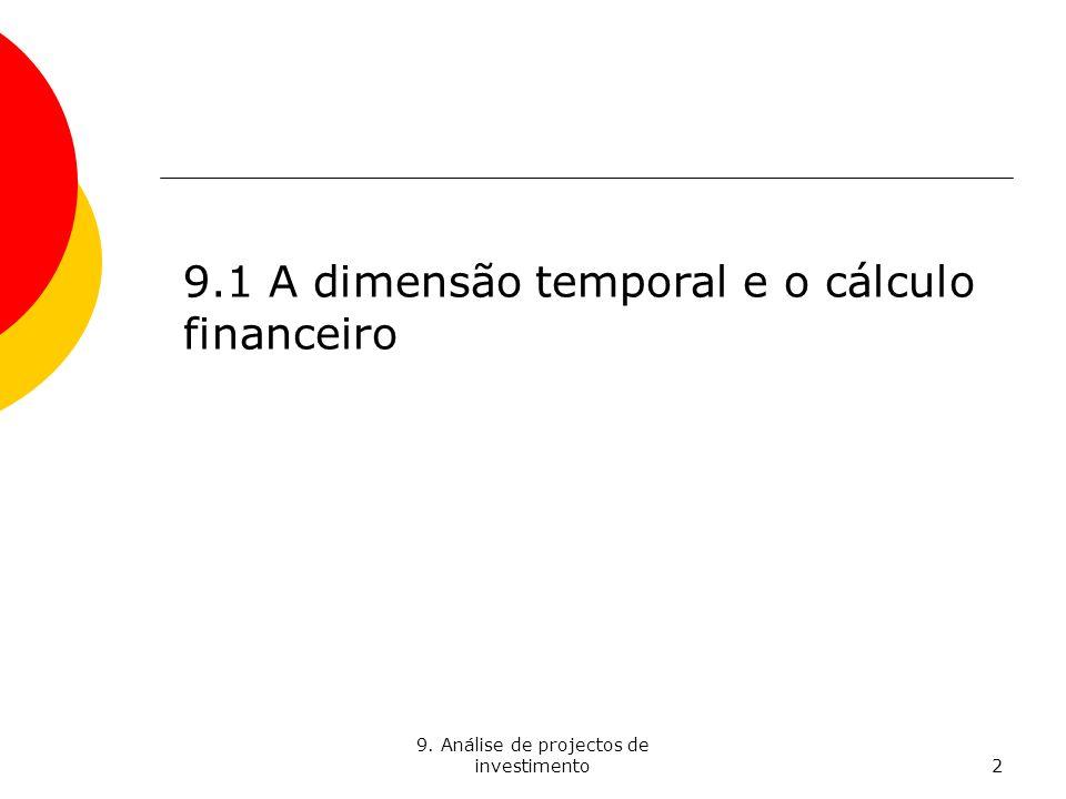 9.Análise de projectos de investimento3 Suponham que lhes prometem 1.000 euros.