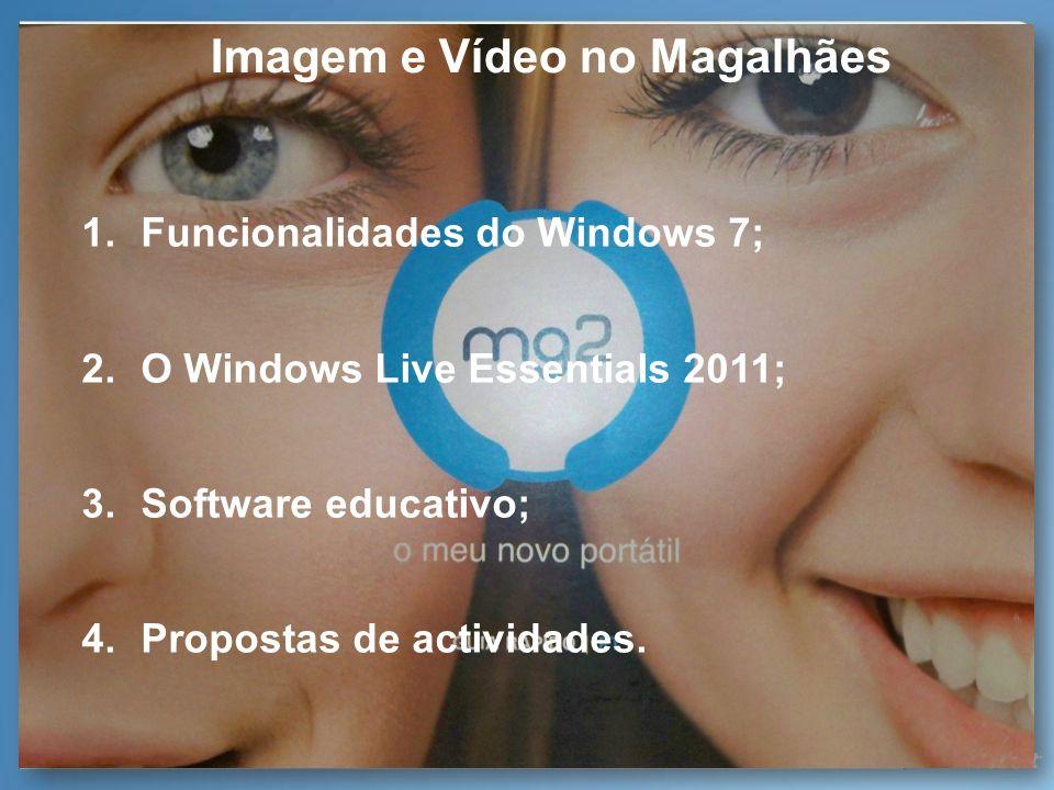Imagem e Vídeo no Magalhães Muitas funcionalidades, recursos e ferramentas referidos podem ser acedidos e descarregados através da Suite de Aprendizagem Microsoft em www.microsoft.com/portugal/educacao/suiteaprendizagem na sua Área de Imagem e Vídeo em http://www.microsoft.com/portugal/educacao/suiteaprendizagem/imgVid.html Suite de Aprendizagem Microsoft