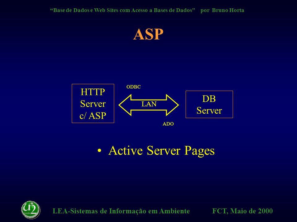 LEA-Sistemas de Informação em Ambiente FCT, Maio de 2000 Base de Dados e Web Sites com Acesso a Bases de Dados por Bruno Horta HTX Directivas HTX – Tratamento do resultado da query - – Condições: - EQ - LT - GT obrigado.htx