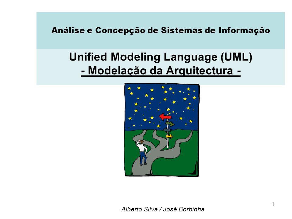 1 Unified Modeling Language (UML) - Modelação da Arquitectura - Alberto Silva / José Borbinha Análise e Concepção de Sistemas de Informação