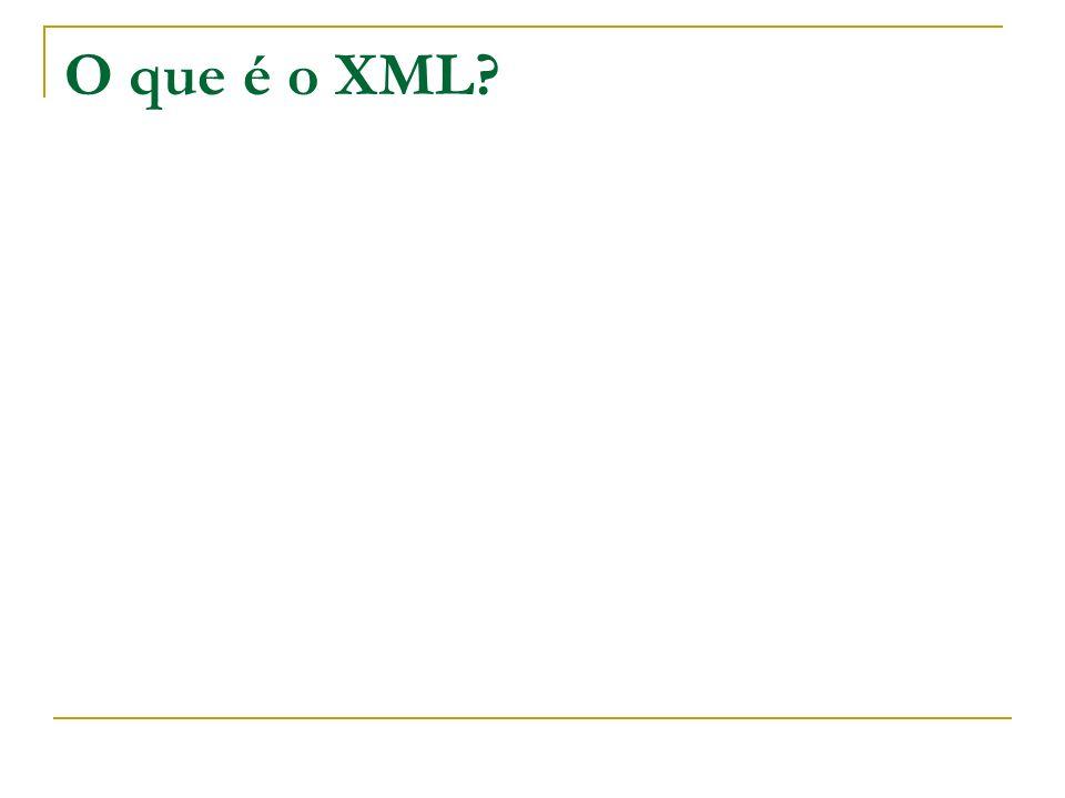 O que é o XML?