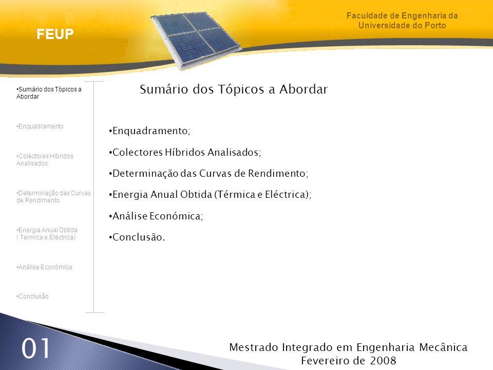 Mestrado Integrado em Engenharia Mecânica Fevereiro de 2008 22 Energia Anual Obtida – Eléctrica Os Colectores Híbridos Sem Cobertura e Com Células Transparentes geram uma maior quantidade de energia eléctrica.