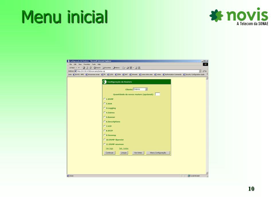 Opção Ver Antes - Visualizar os comandos das templates seleccionadas 11