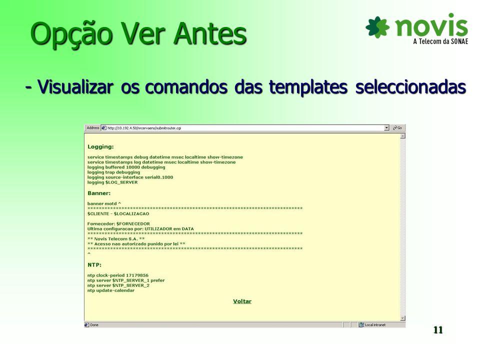 Opção Menu Configuração - Editar e criar templates 12