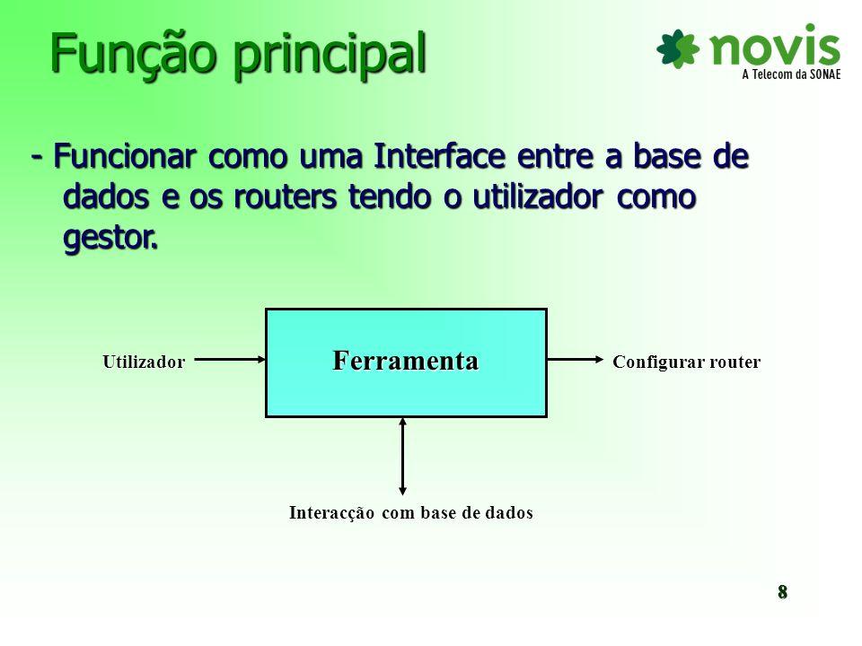 Funcionalidades n Configurar routers utilizando templates pré-definidas (introdução de novos campos descritivos) n Editar e criar templates n Actualização automática na base de dados da plataforma de gestão NetMgt 9