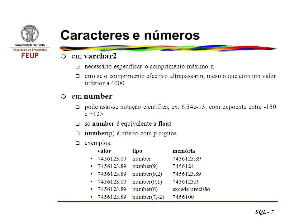 SQL - 78 Top-ten m Primeira solução select titulo, preco from livro where rownum < 4 order by preco desc 41 Obtenha a lista dos três livros mais caros.