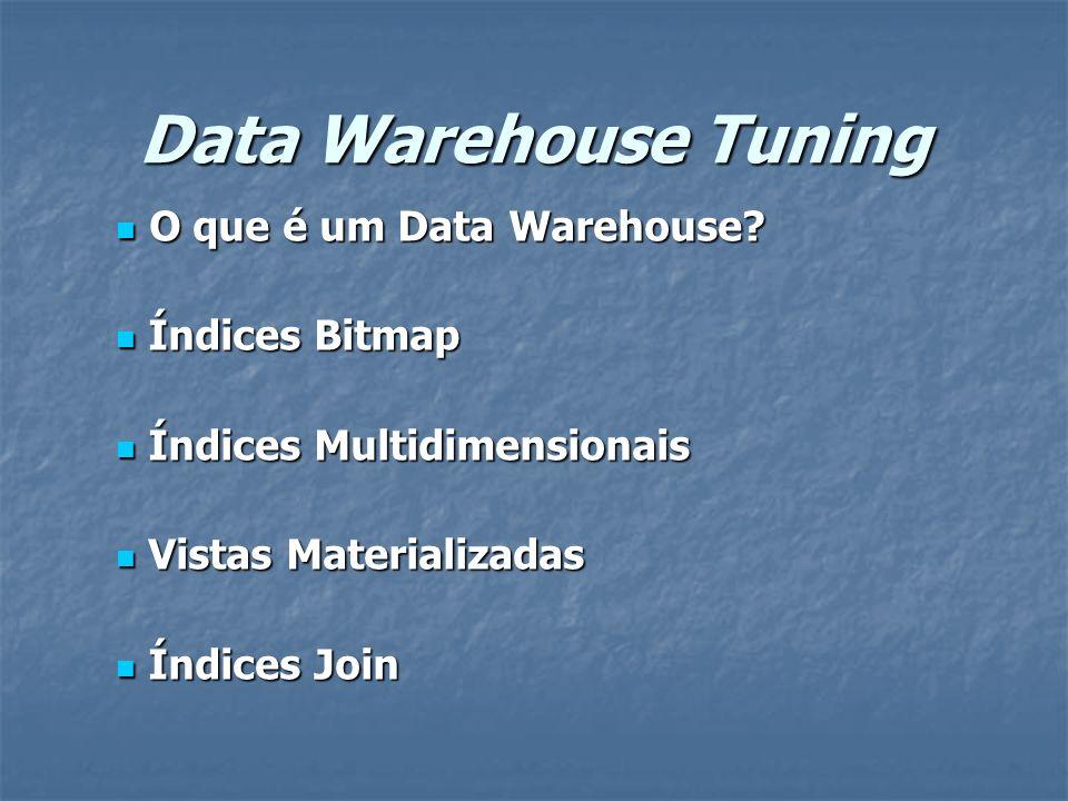 Data Warehouse Tuning O que é um Data Warehouse.O que é um Data Warehouse.