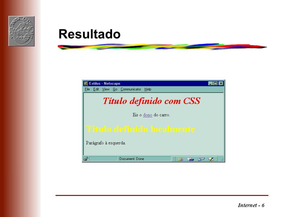Internet - 6 Resultado
