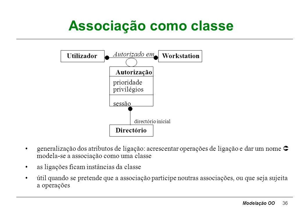 Modelação OO35 Associações muitos-para-um PessoaEmpresa Trabalha para salário cargo nome bi morada nome morada Chefia avaliação trabalhador chefe a as