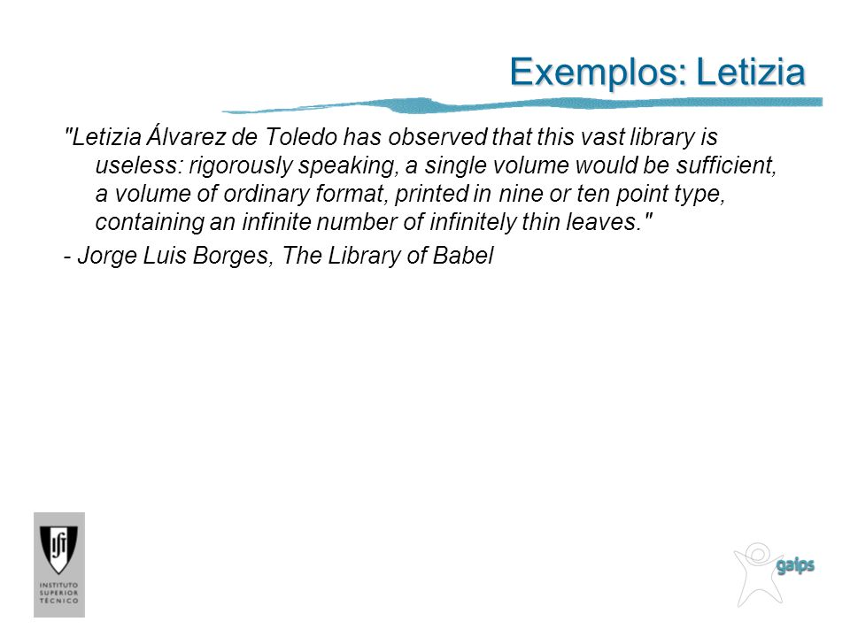 Exemplos: Letizia