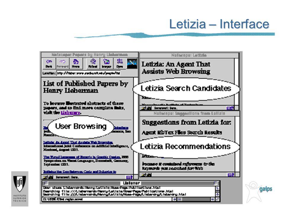 Letizia – Interface