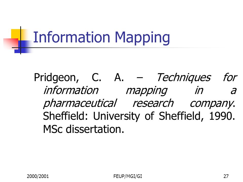 2000/2001FEUP/MGI/GI27 Information Mapping Pridgeon, C.