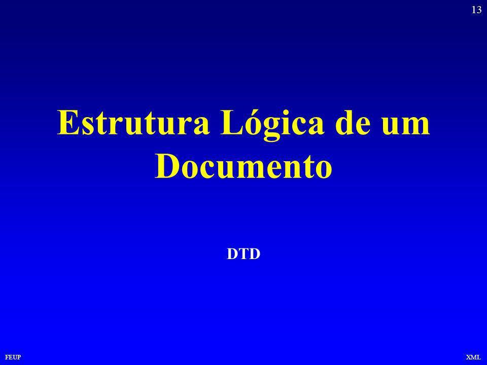 13 FEUPXML Estrutura Lógica de um Documento DTD
