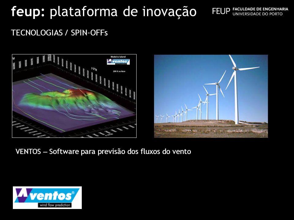 feup: plataforma de inovação TECNOLOGIAS / SPIN-OFFs VENTOS – Software para previsão dos fluxos do vento