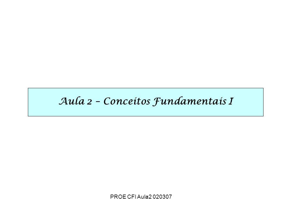 PROE CFI Aula2 020307 Aula 2 – Conceitos Fundamentais I