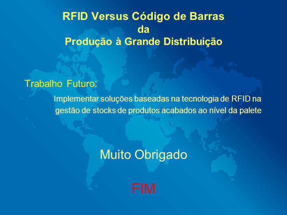 RFID Versus Código de Barras da Produção à Grande Distribuição Trabalho Futuro : Implementar soluções baseadas na tecnologia de RFID na gestão de stoc