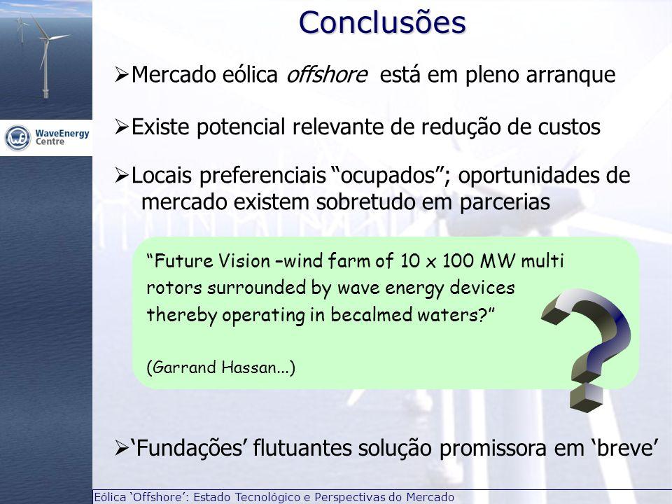 Eólica Offshore: Estado Tecnológico e Perspectivas do Mercado Mercado eólica offshore está em pleno arranqueConclusões Future Vision –wind farm of 10