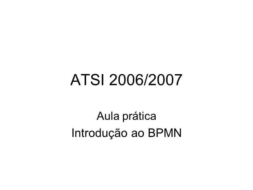 ATSI 2006/2007 Aula prática Introdução ao BPMN