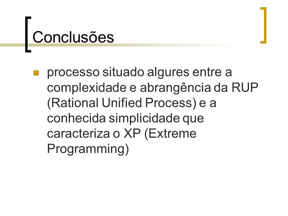 processo situado algures entre a complexidade e abrangência da RUP (Rational Unified Process) e a conhecida simplicidade que caracteriza o XP (Extreme