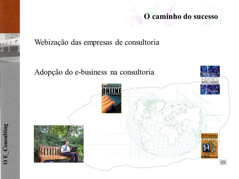 O caminho do sucesso O E_Consulting Webização das empresas de consultoria Adopção do e-business na consultoria