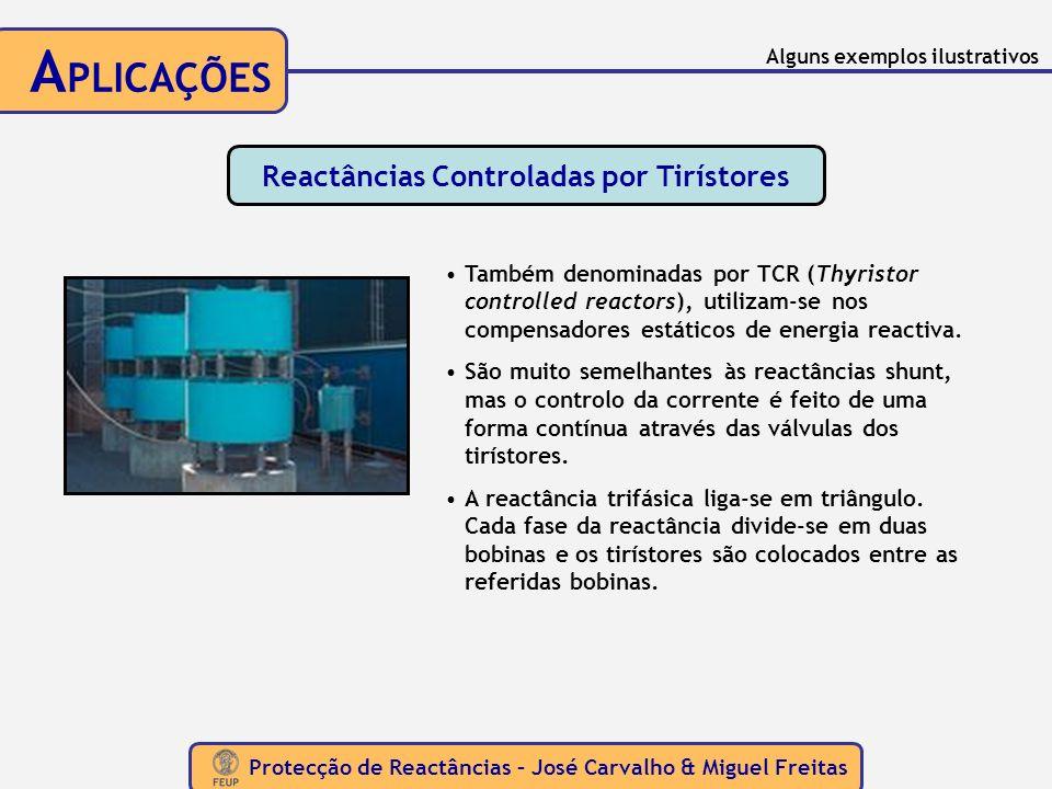 Protecção de Reactâncias – José Carvalho & Miguel Freitas A PLICAÇÕES Reactâncias Controladas por Tirístores Também denominadas por TCR (Thyristor con