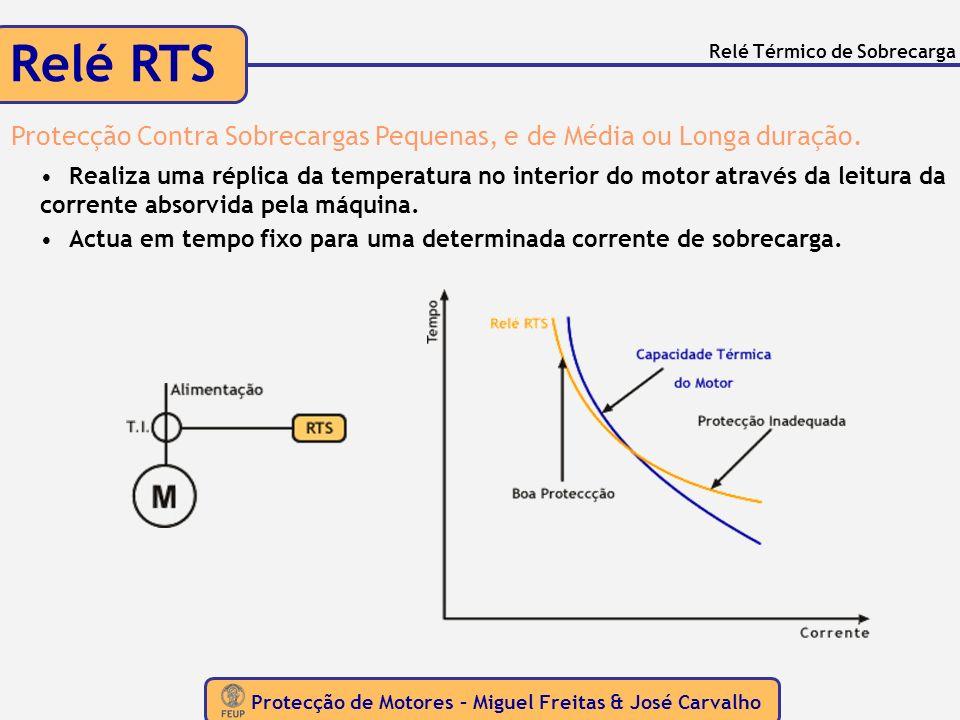 Protecção de Motores – Miguel Freitas & José Carvalho Protecção Directa Contra Aquecimento AQUECIMENTO Ventilação Inadequada Elevada Temperatura Ambiente e/ou Aquecimento Protecções de medida indirecta de temperatura não protegem o motor...