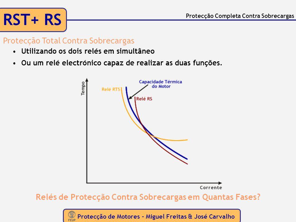 Protecção de Motores – Miguel Freitas & José Carvalho Protecção Completa Contra Sobrecargas RST+ RS Protecção Total Contra Sobrecargas Utilizando os d