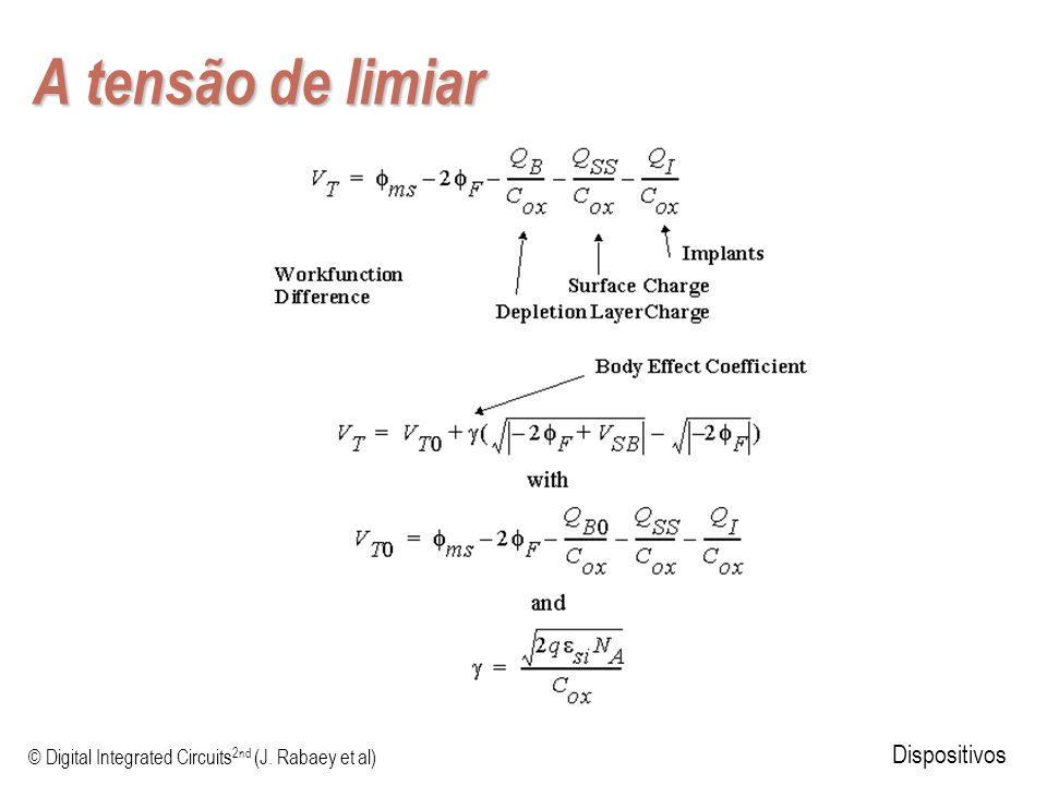 © Digital Integrated Circuits 2nd (J. Rabaey et al) Dispositivos A tensão de limiar