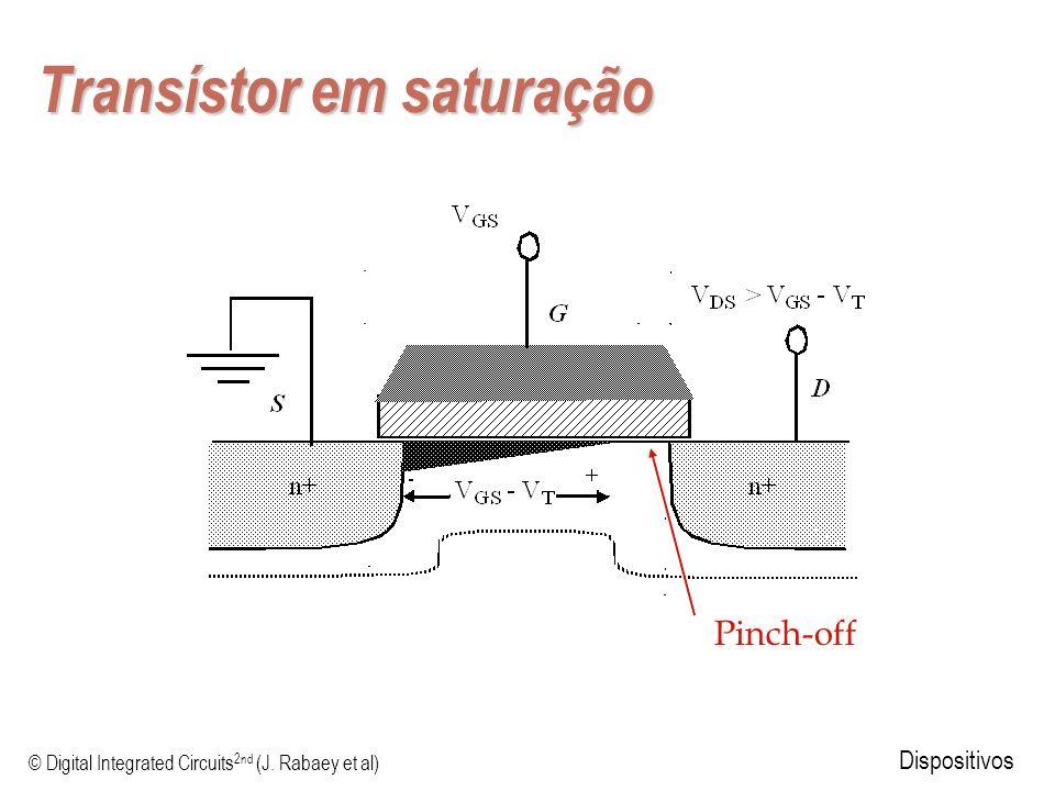 © Digital Integrated Circuits 2nd (J. Rabaey et al) Dispositivos Transístor em saturação Pinch-off