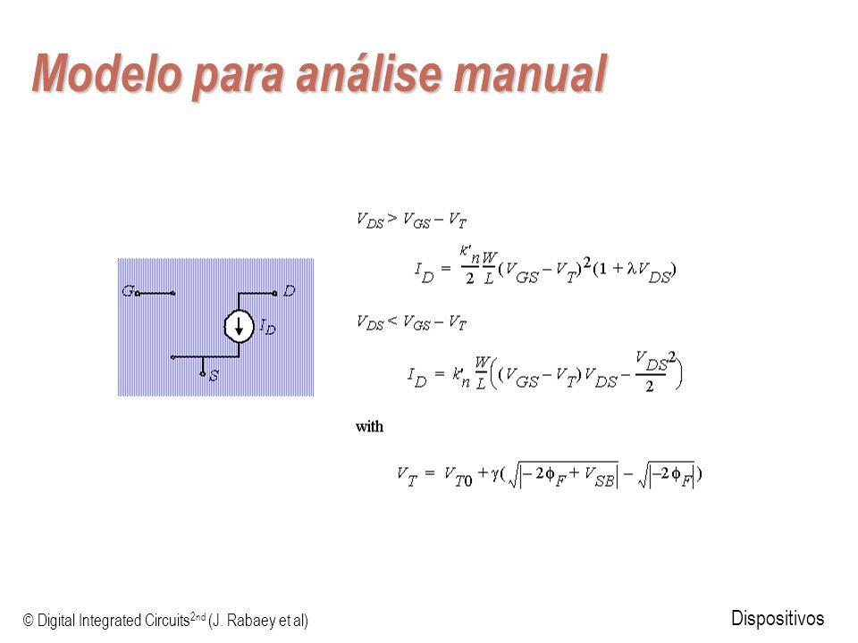 © Digital Integrated Circuits 2nd (J. Rabaey et al) Dispositivos Modelo para análise manual