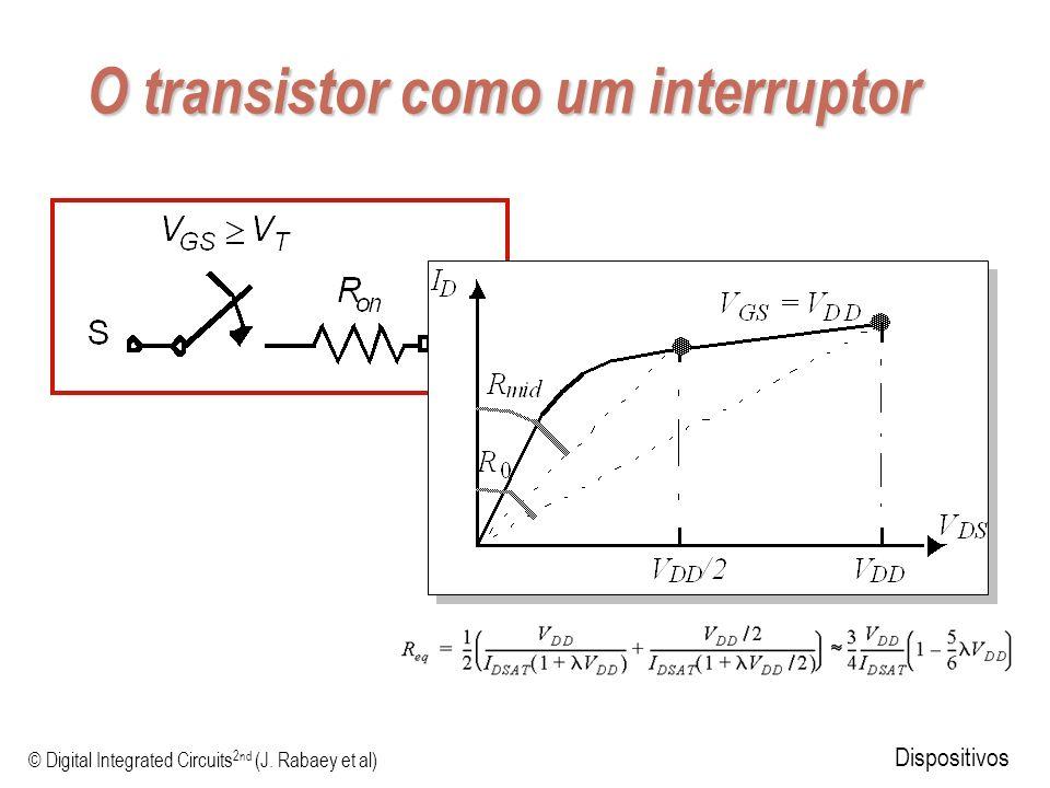 © Digital Integrated Circuits 2nd (J. Rabaey et al) Dispositivos O transistor como um interruptor