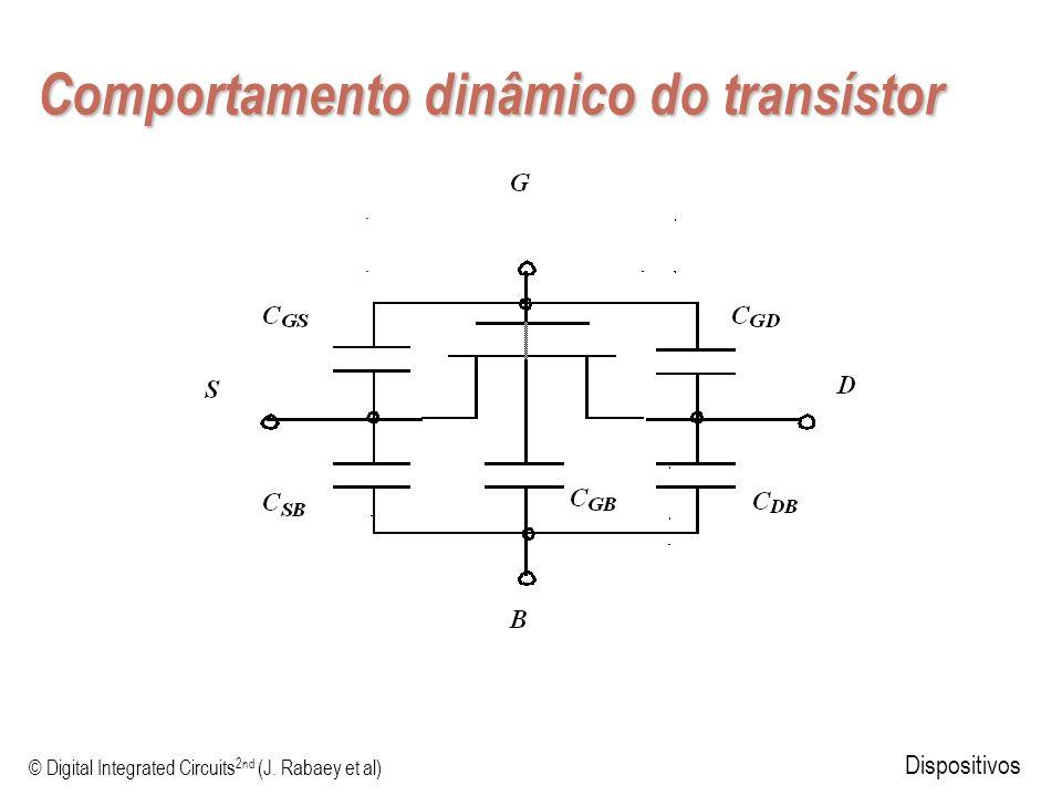© Digital Integrated Circuits 2nd (J. Rabaey et al) Dispositivos Comportamento dinâmico do transístor
