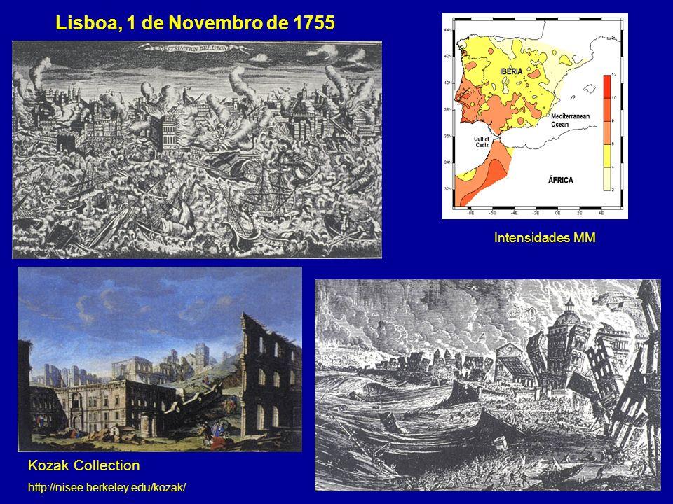 Lisboa, 1 de Novembro de 1755 Kozak Collection http://nisee.berkeley.edu/kozak/ Intensidades MM