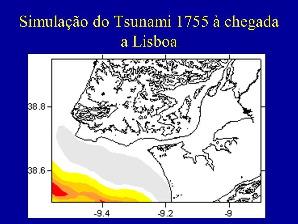 Simulação do Tsunami 1755 à chegada a Lisboa
